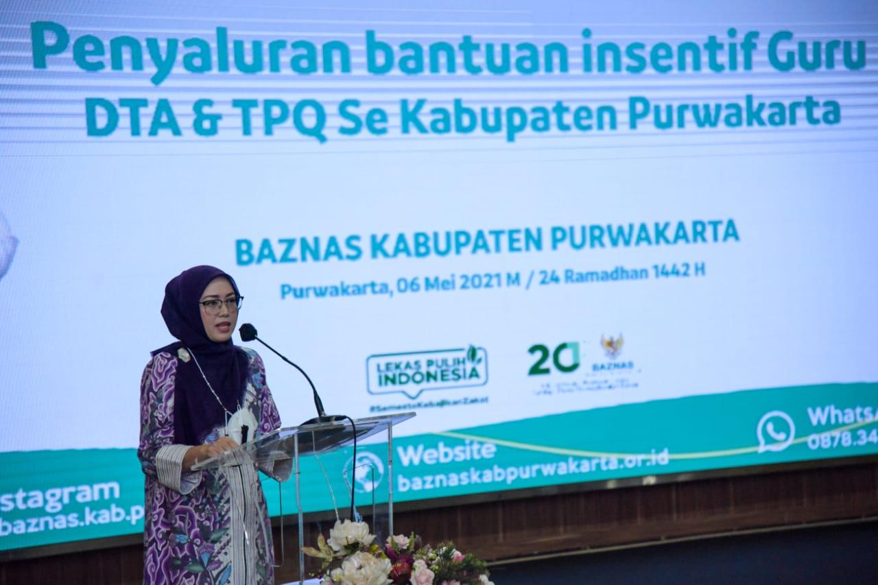 Baznas Purwakarta Salurkan Bantuan untuk Guru DTA dan TPQ