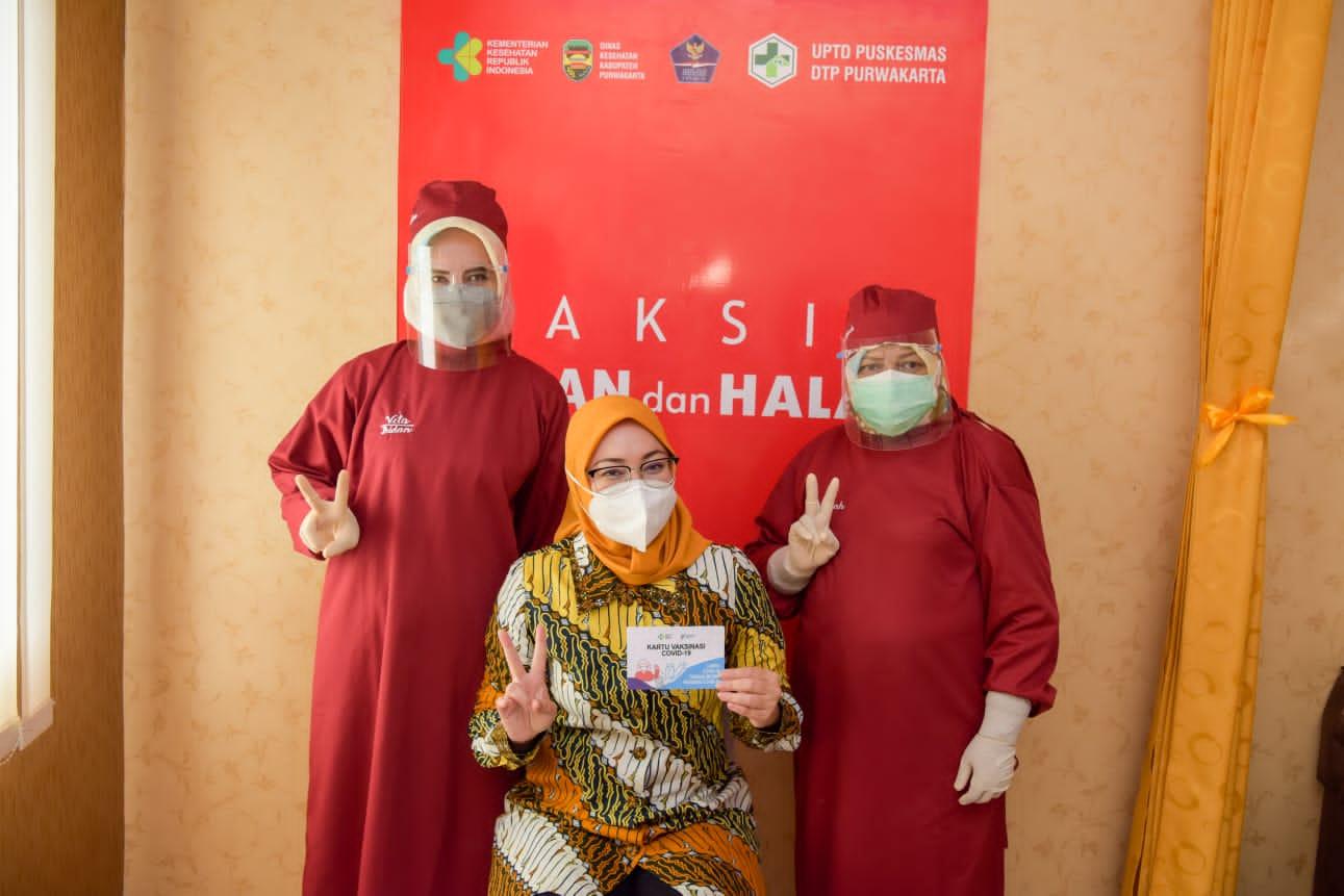 Serapan Vaksin Covid-19 Purwakarta Tertinggi di Jabar