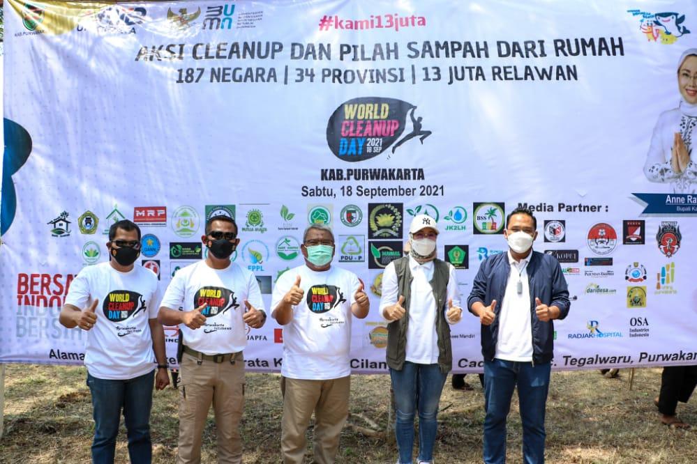 World Cleanup Day, Pemkab Purwakarta Gelar Gerakan Pilah Sampah dari Rumah