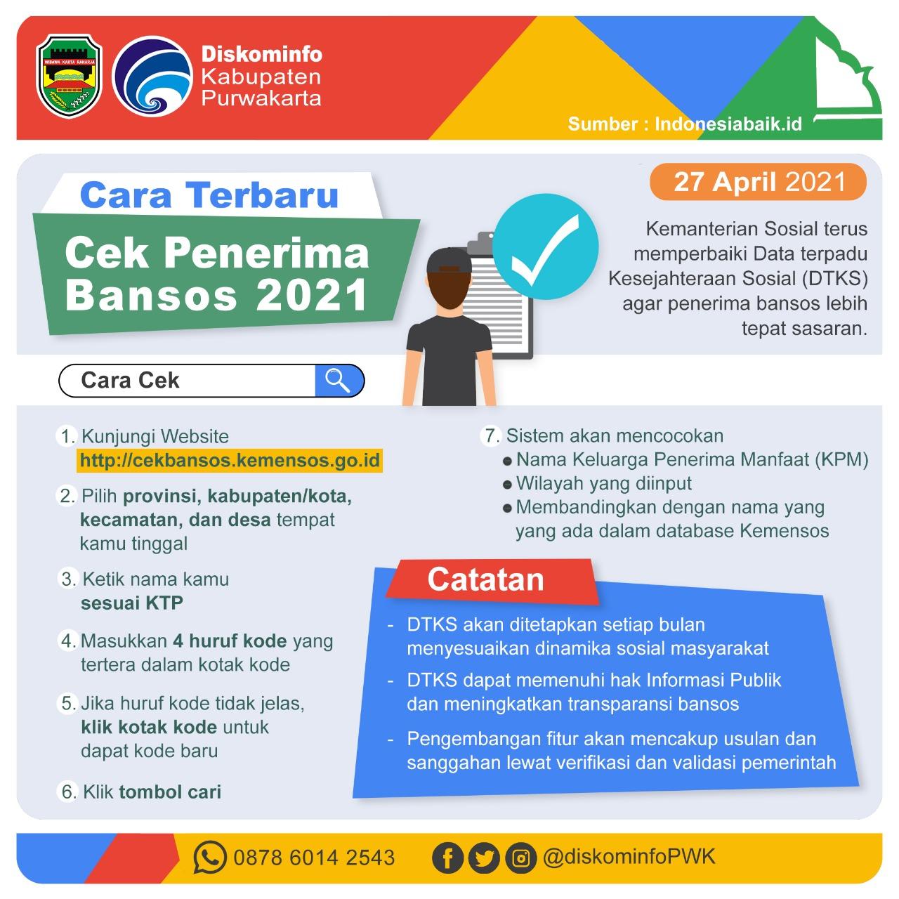 Cara Terbaru Cek Penerima Bansos 2021