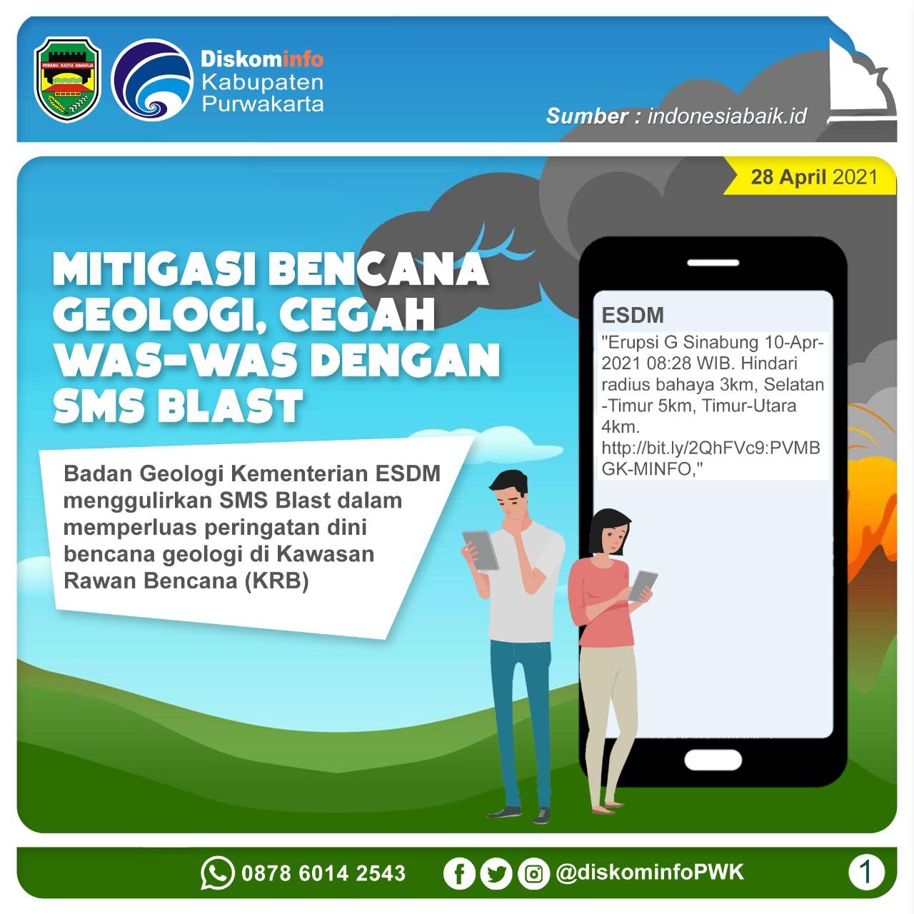 Mitigasi Bencana Geologi, Cegah Was-was dengan SMS Blast