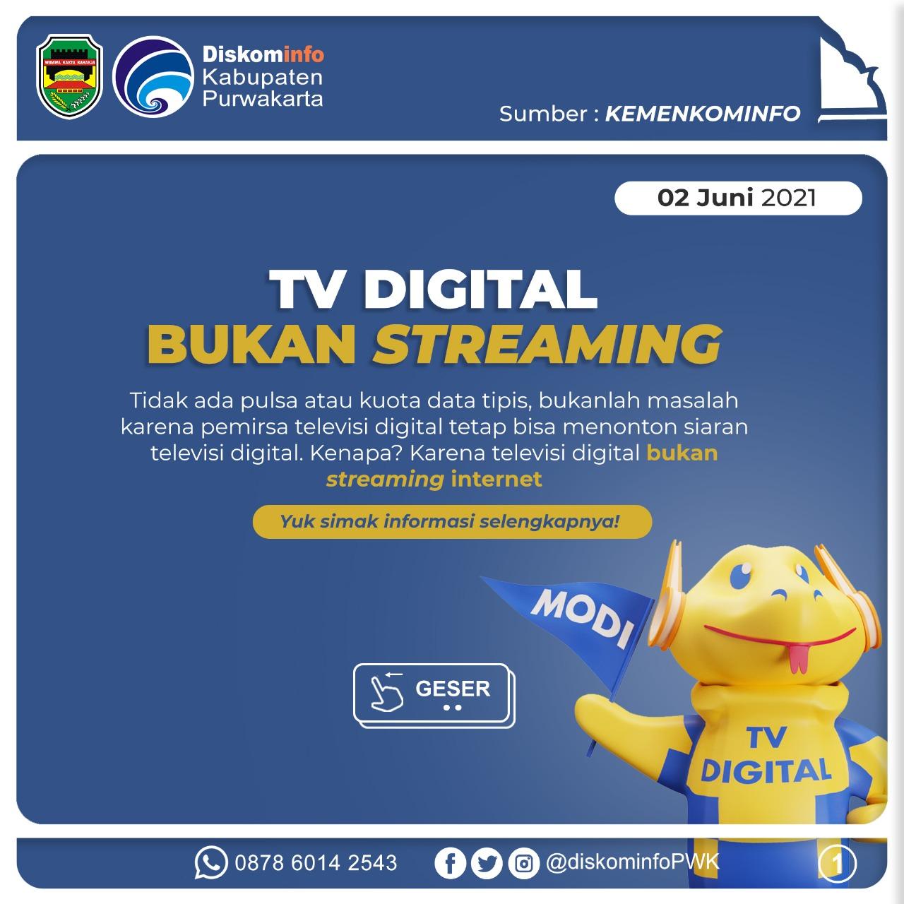 TV Digital Bukan Streaming