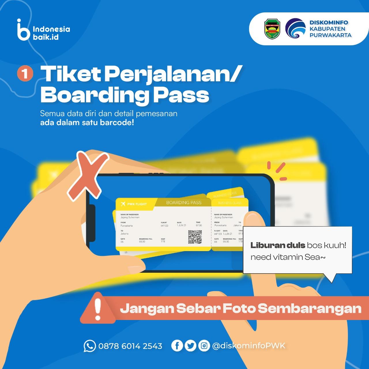 Tiket Perjalanan/Boarding Pass