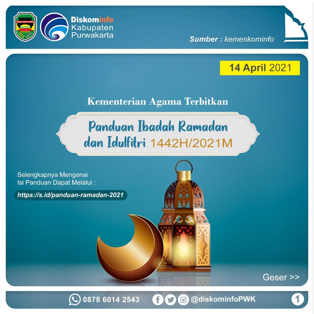 Panduan Ibadah Ramadan dan Idulfitri 1442H/2021M
