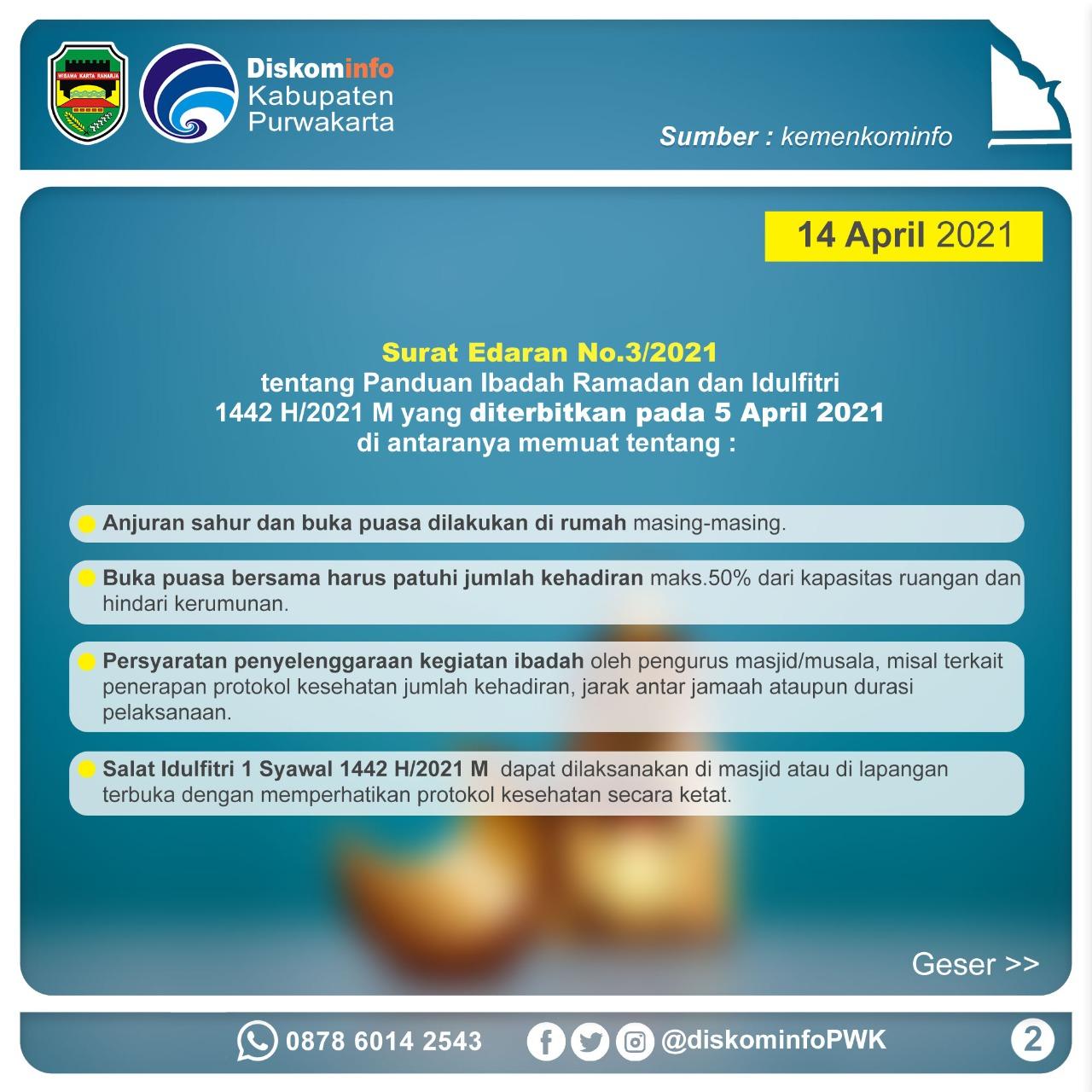 Surat Edaran No.3/2021