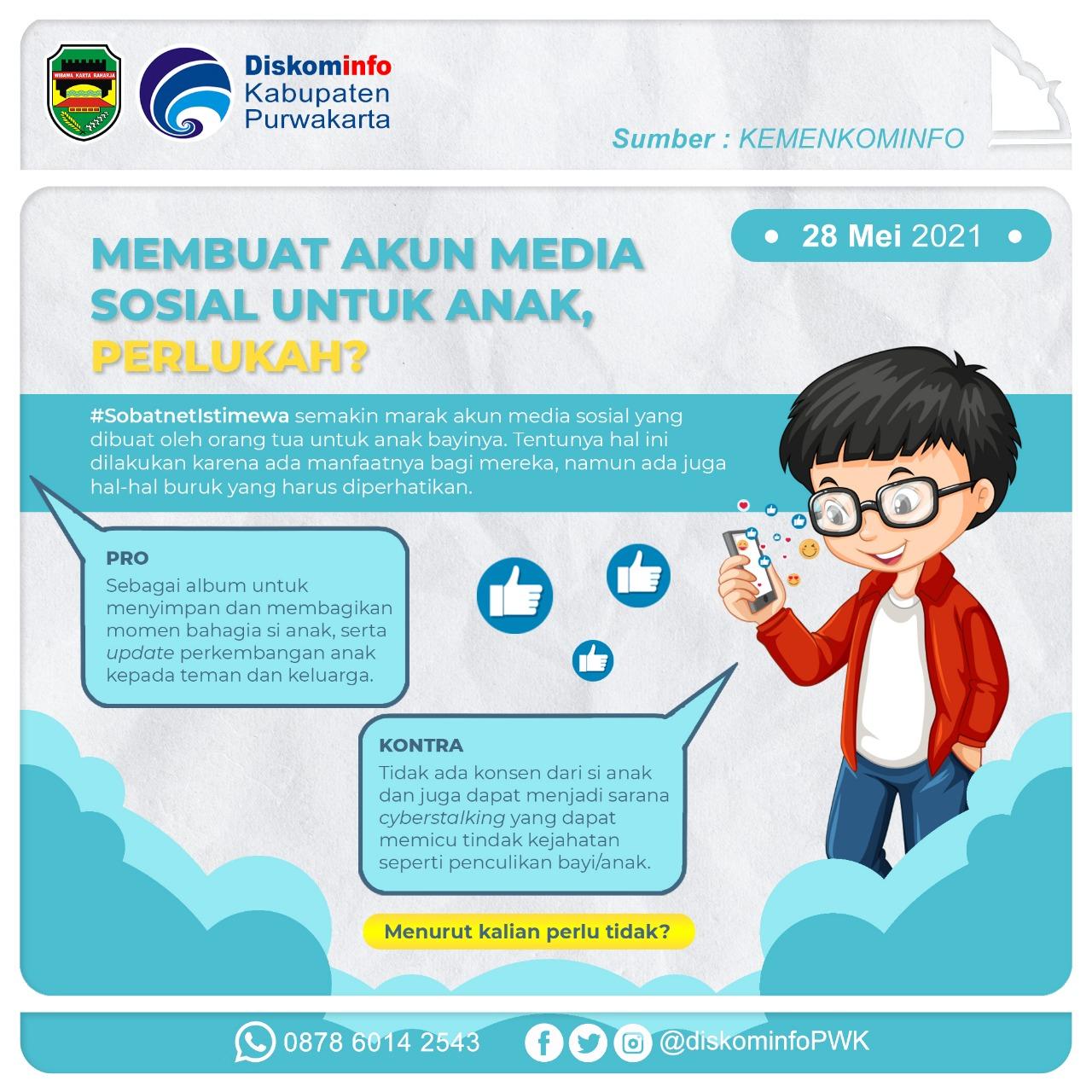 Membuat Akun Media Sosial untuk Anak, Perlukah?