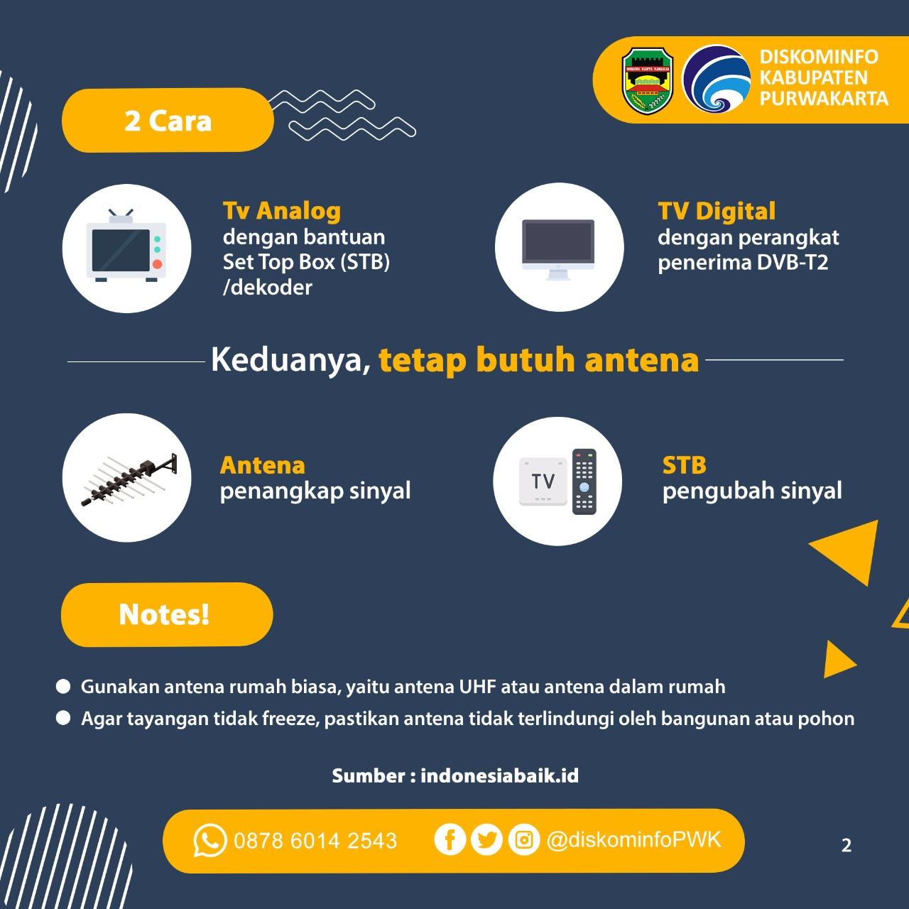 Siaran TV Digital Tetap Butuh Antena ya