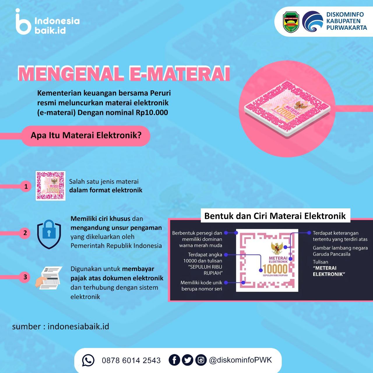 Mengenal E-Materai