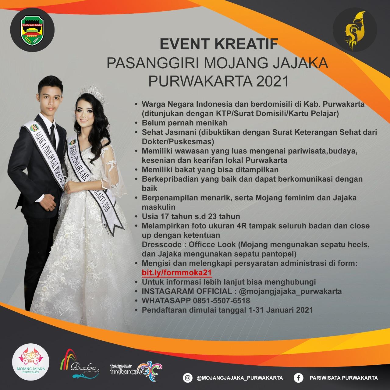 Even Kreatif Pasanggiri Mojang Jajaka Purwakarta 2021